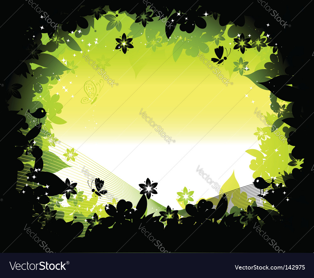 Nature silhouette vector image