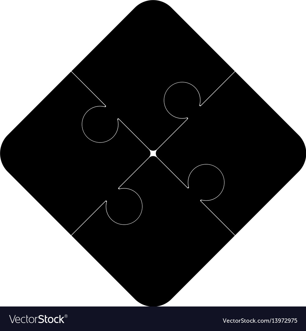 Puzzles on a white background vector image