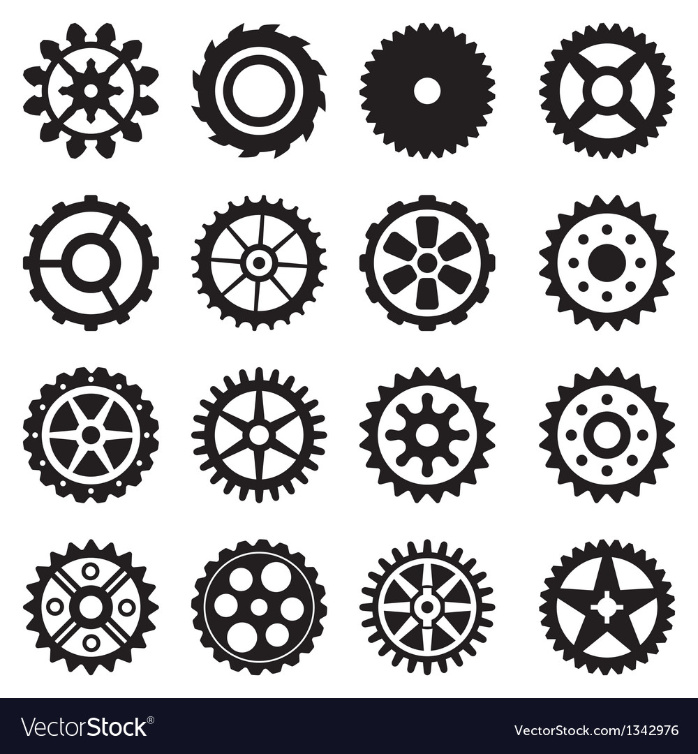 Gear set vector image