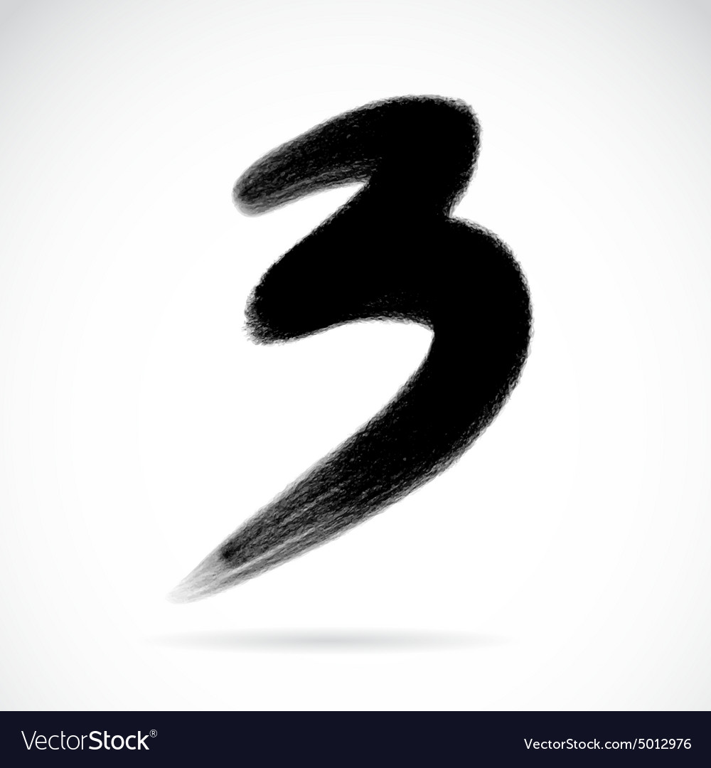 Numbers three vector image