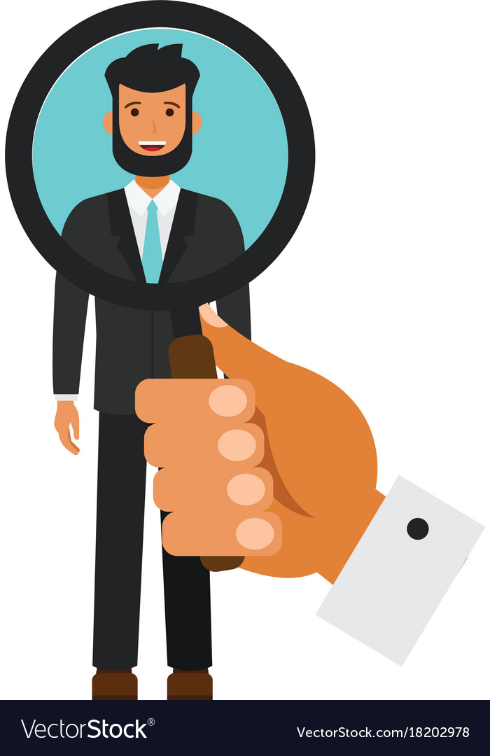 Human resources search candidate cartoon flat vector image