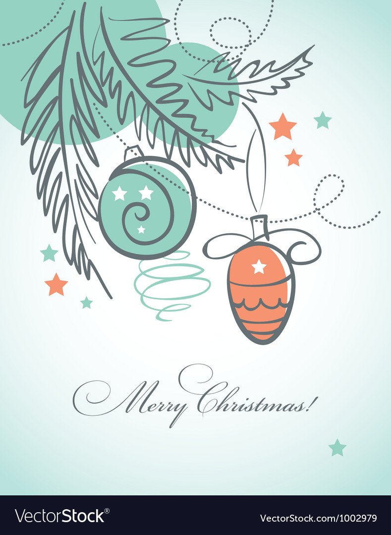 Modern Christmas background Royalty Free Vector Image