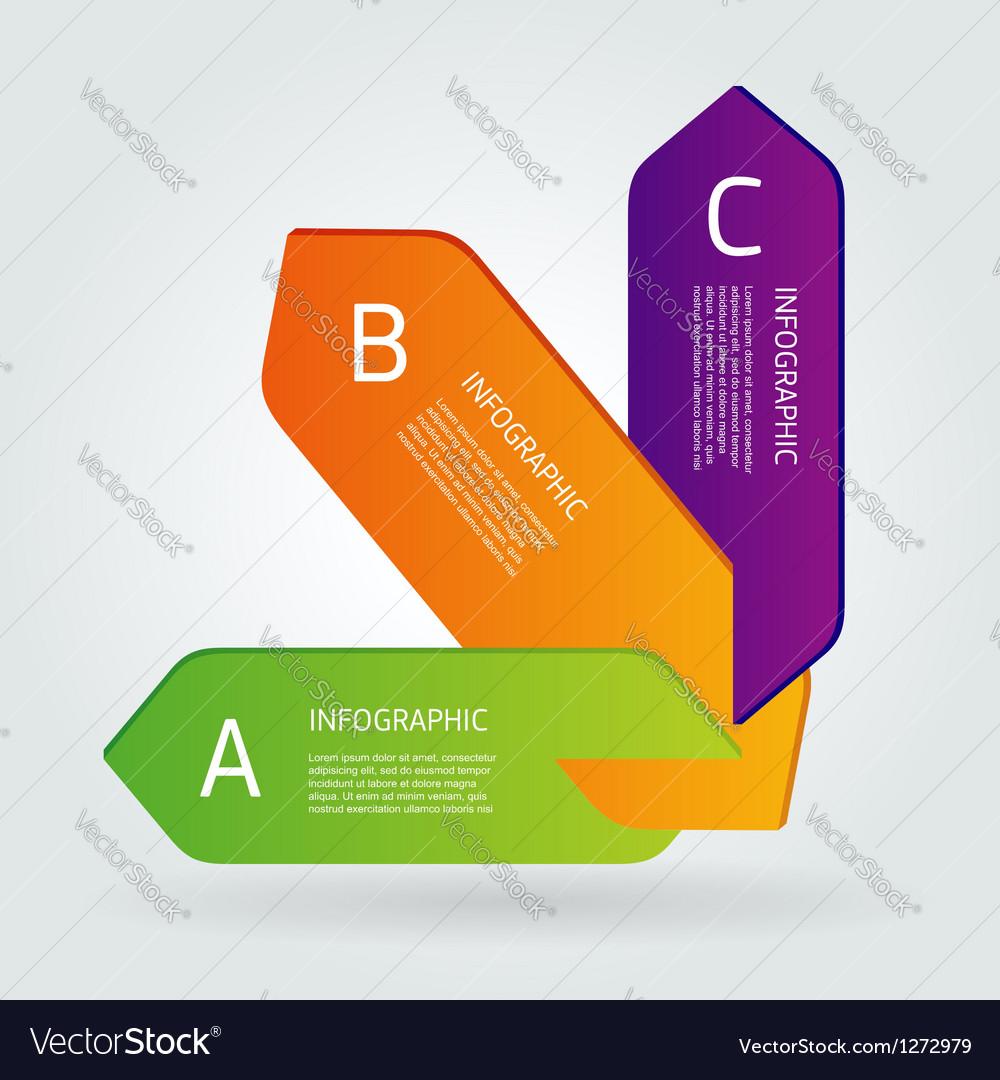 Modern number list infographic banner vector image