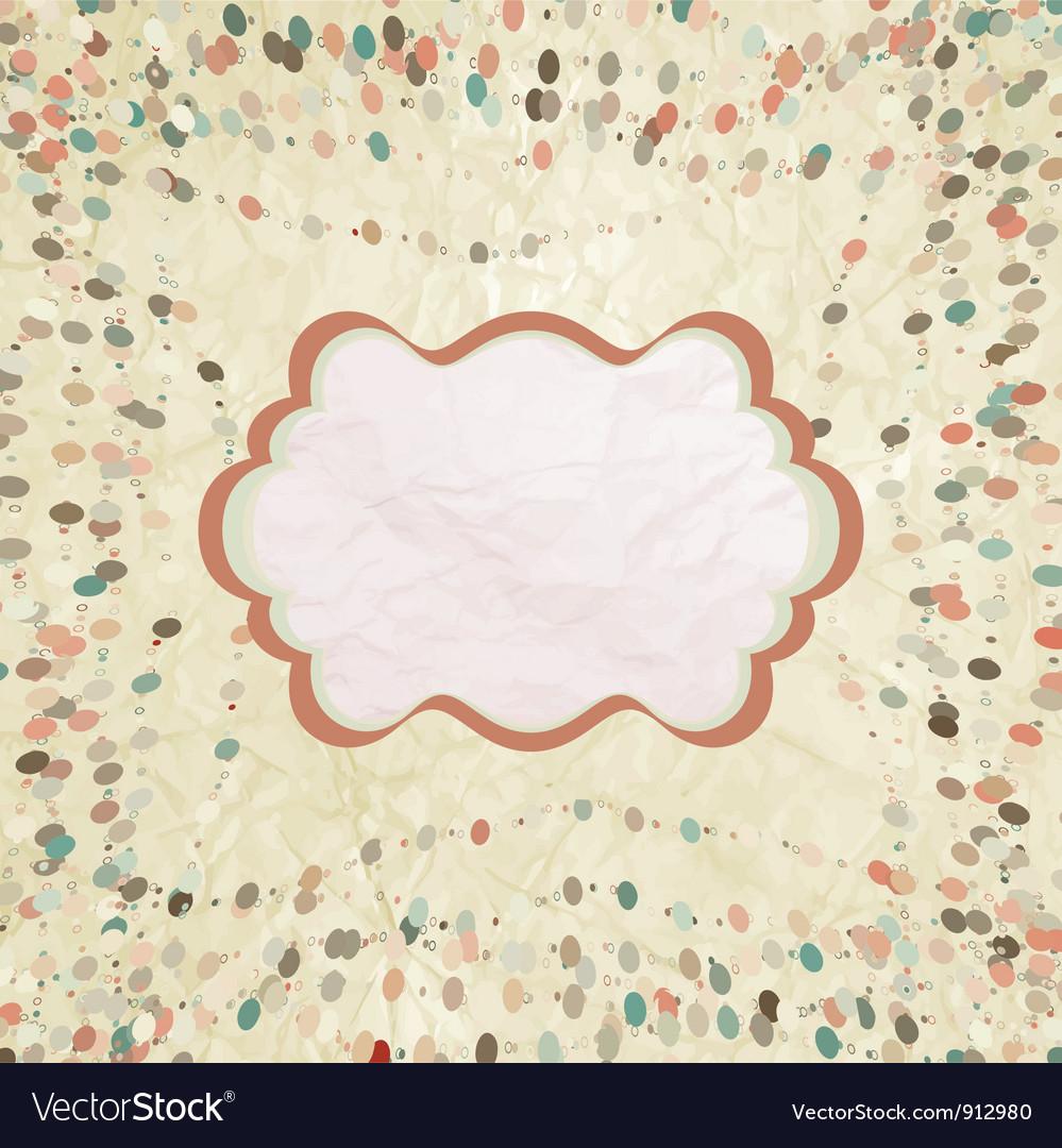 Beige vintage card vector image