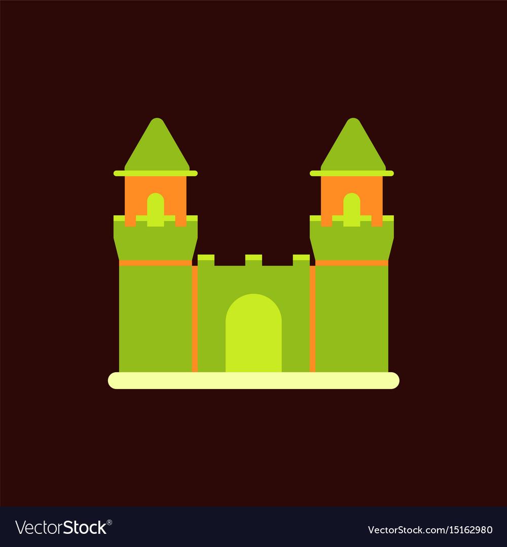 Summer beach scene vector stock vector colourbox - Princess Castle Vector Background Medieval Castle