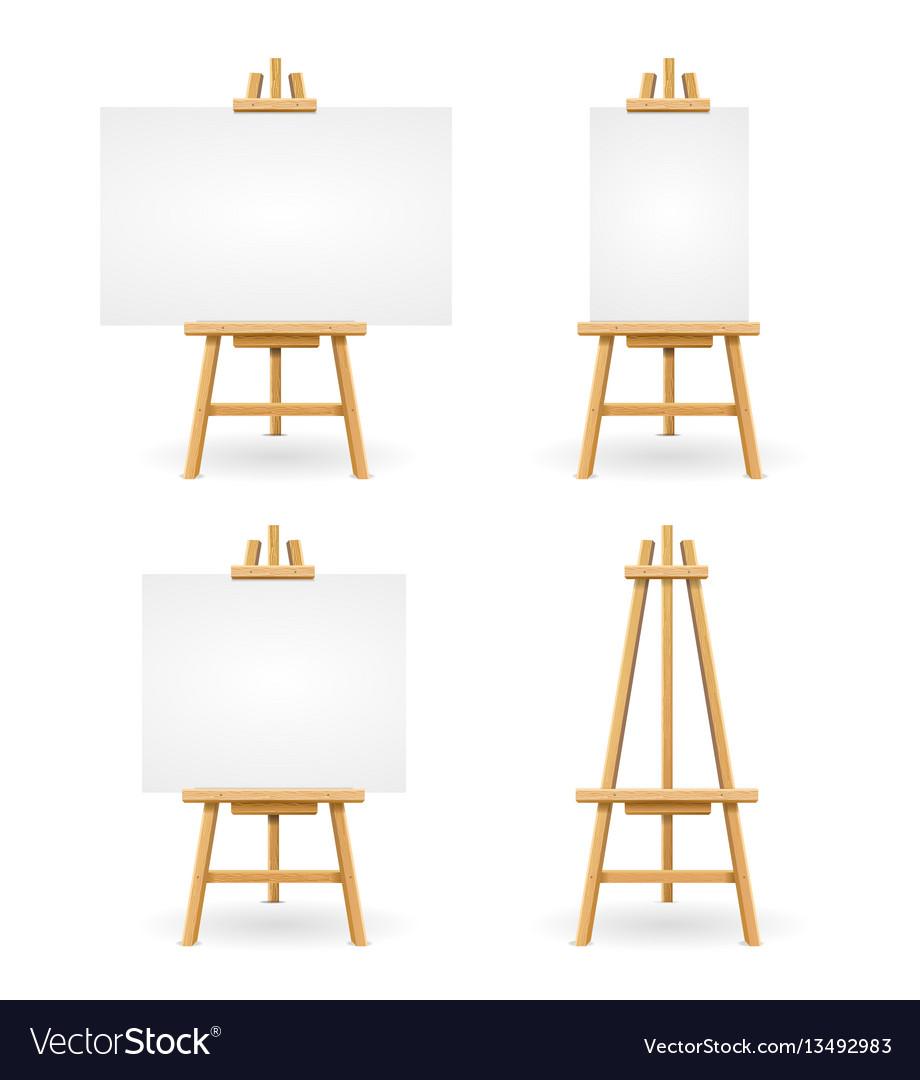 Wooden easel or painter desk vector image