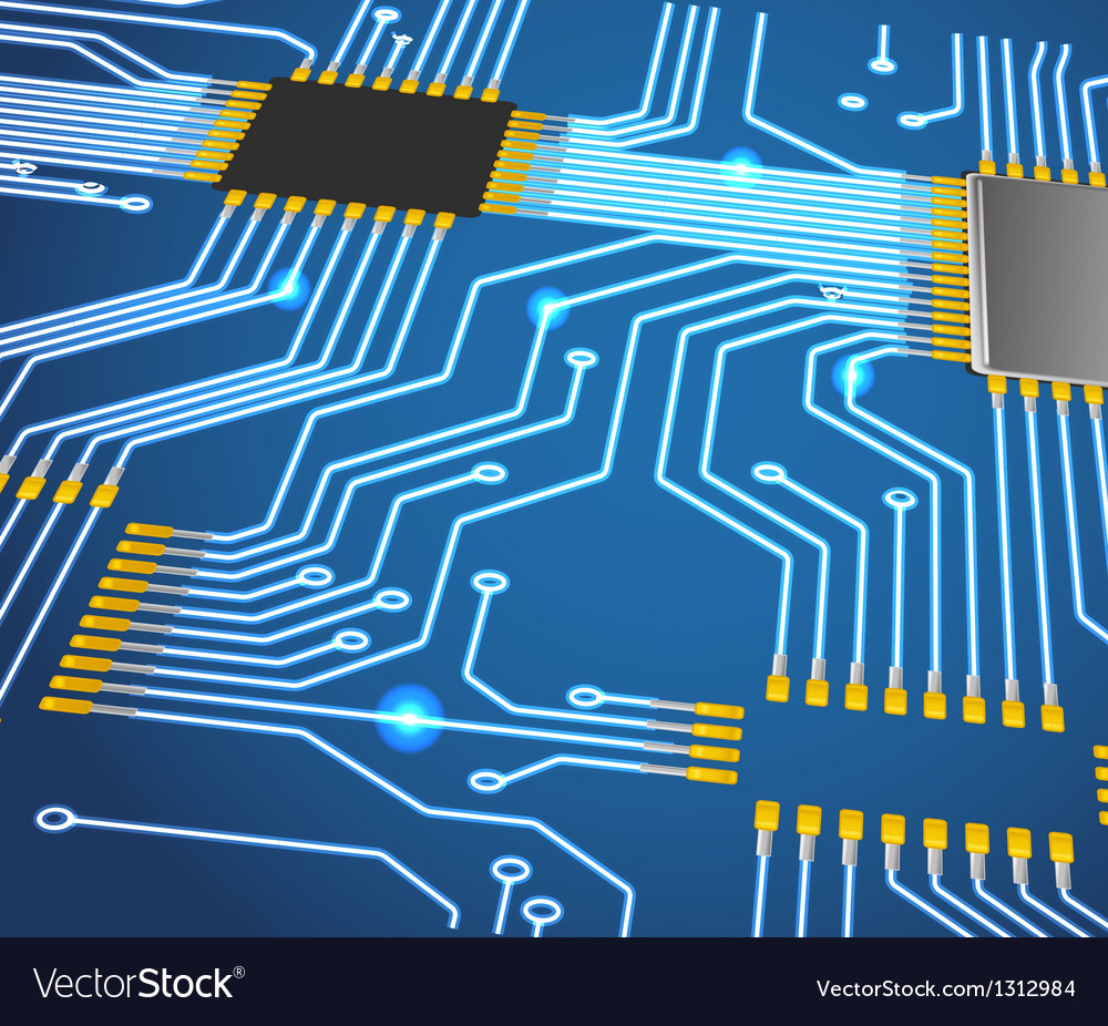 Abstract chip background vector image