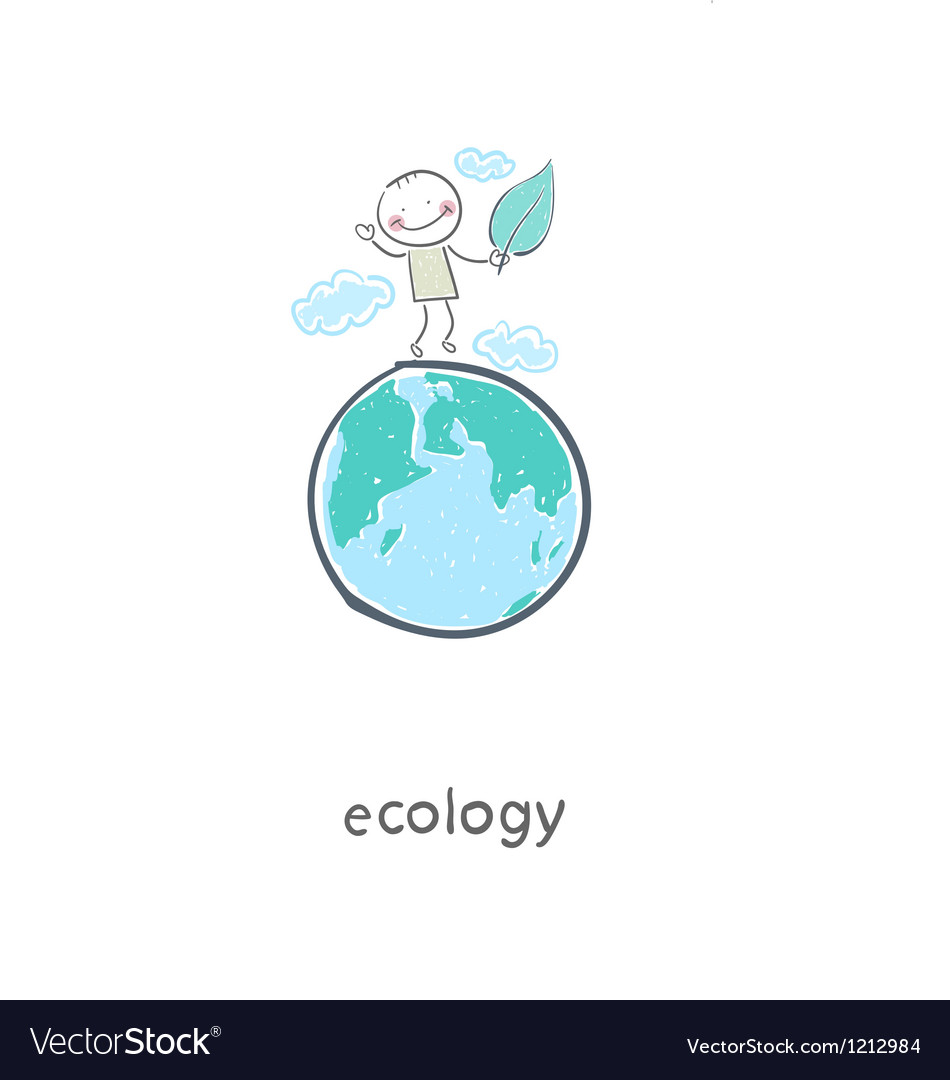 Eco people vector image