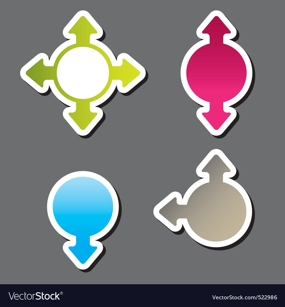 Direction stickers vector image