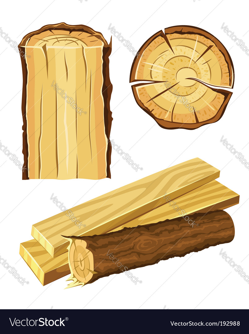 Wooden material wood and board Vector Image