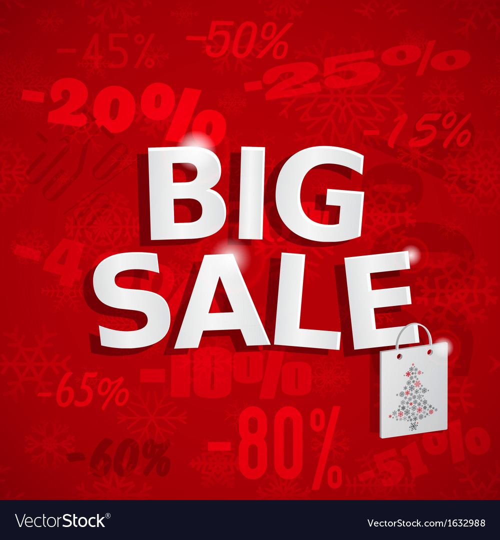 Christmas sales background vector image