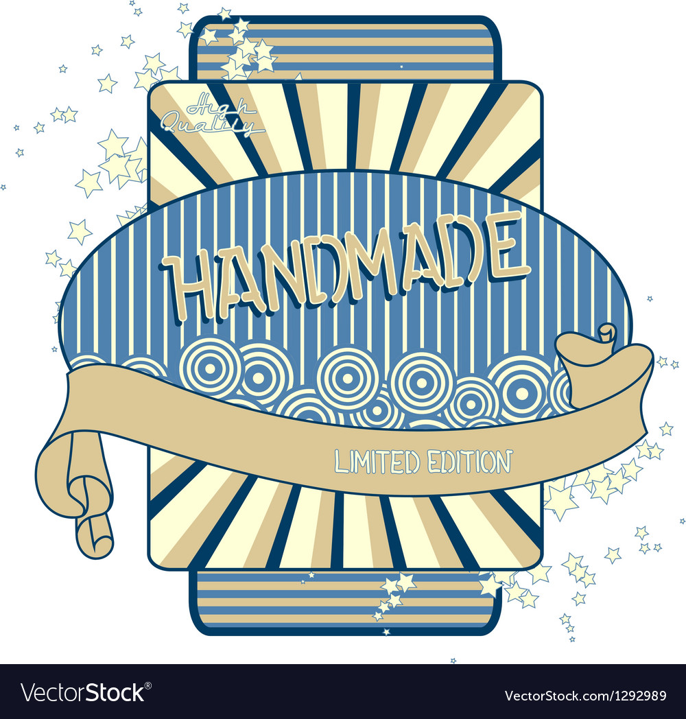 Retro label vector image