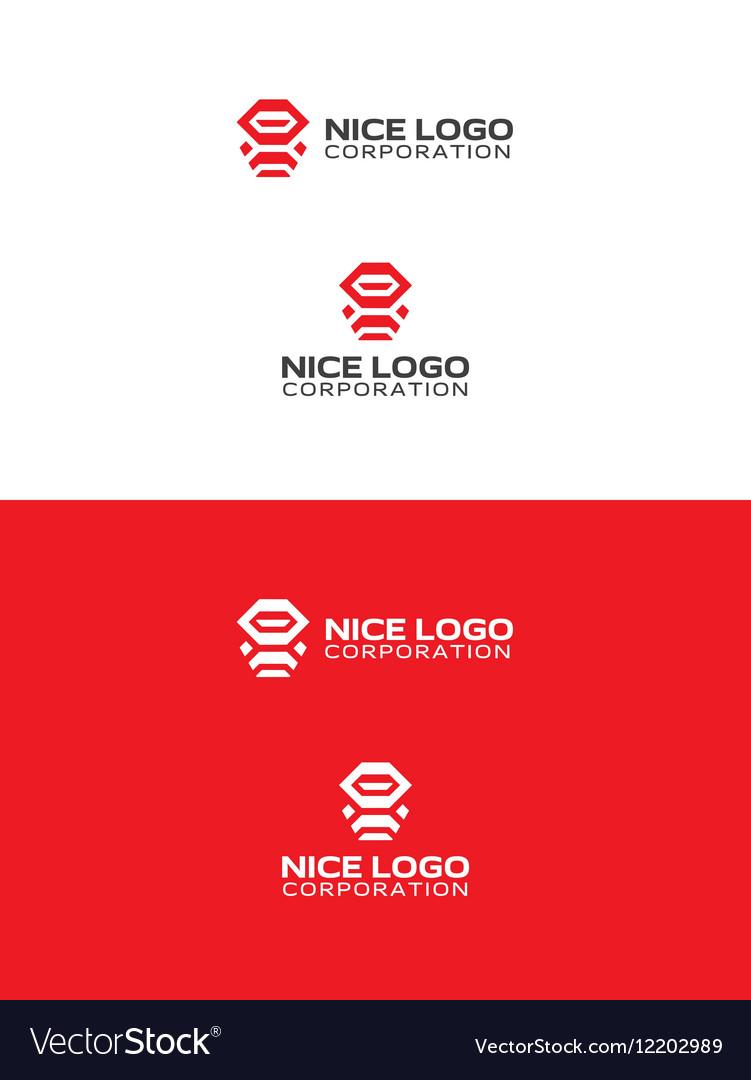 Robot ninja logo vector image
