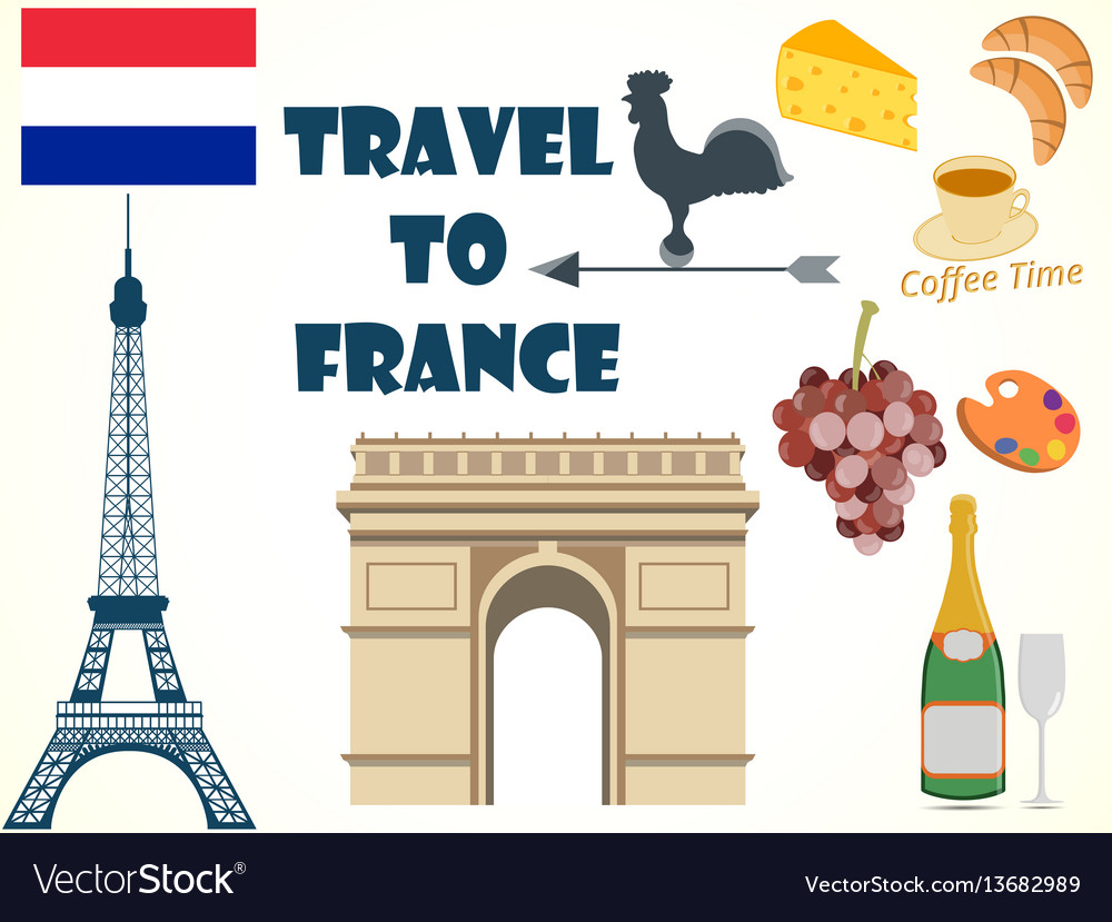 Symbols of france set tourism royalty free vector image symbols of france set tourism vector image biocorpaavc