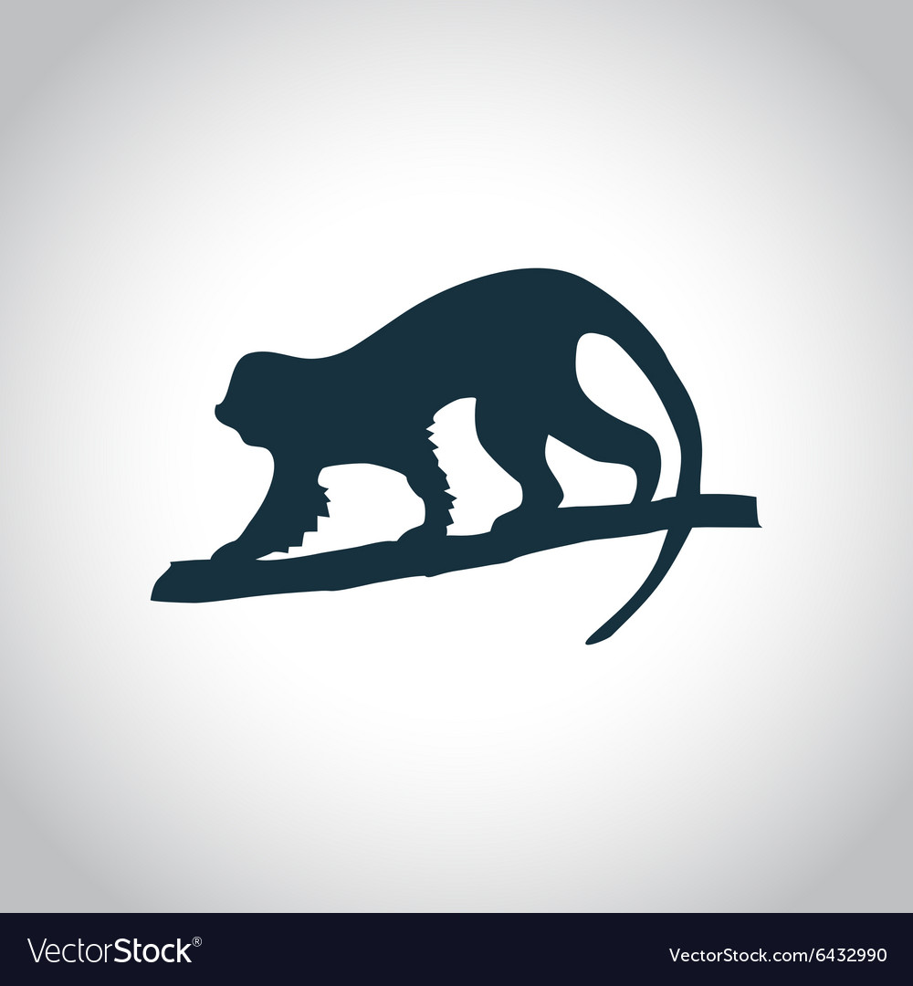 Monkey black icon vector image