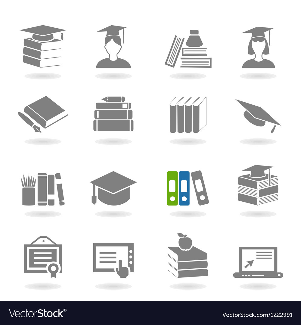 School an icon vector image
