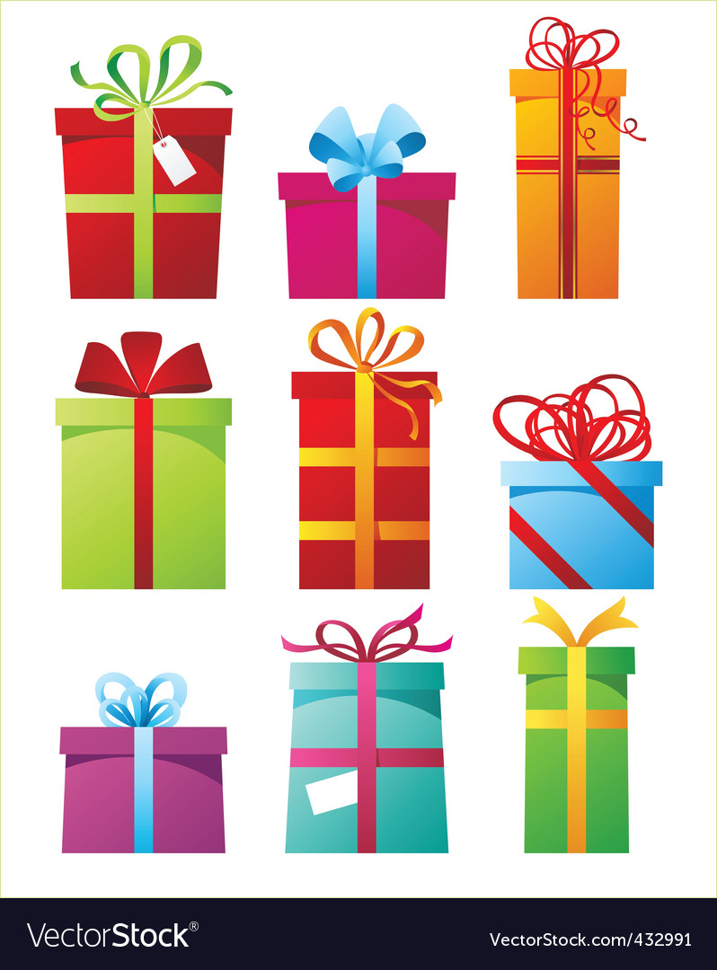 Gft boxes vector image