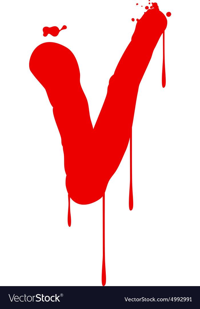 Wet Paint Font Type vector image