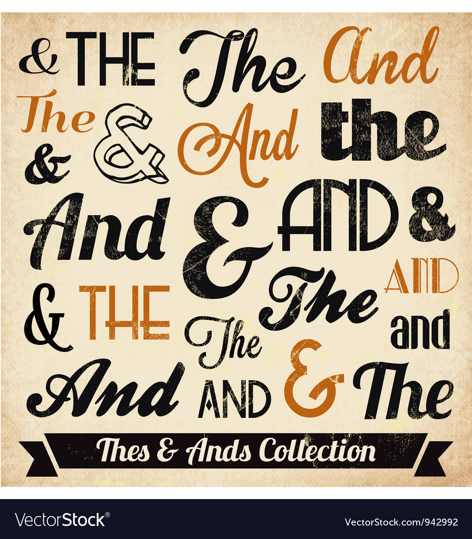Various Vintage Thes and Ends Collection vector image