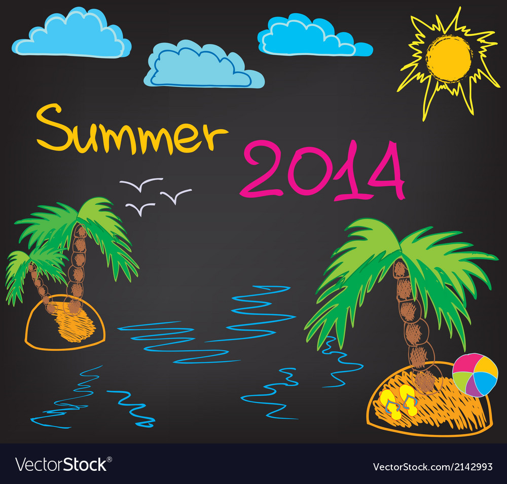 Summer 2014 2 vector image