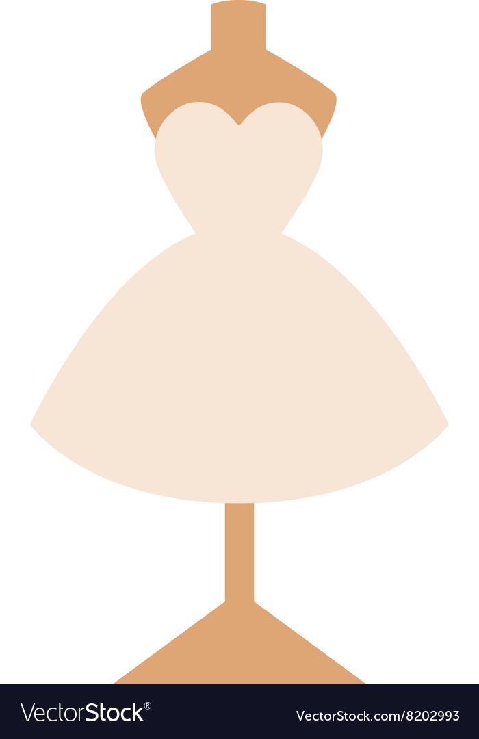 Wedding dress isolated on white background vector image