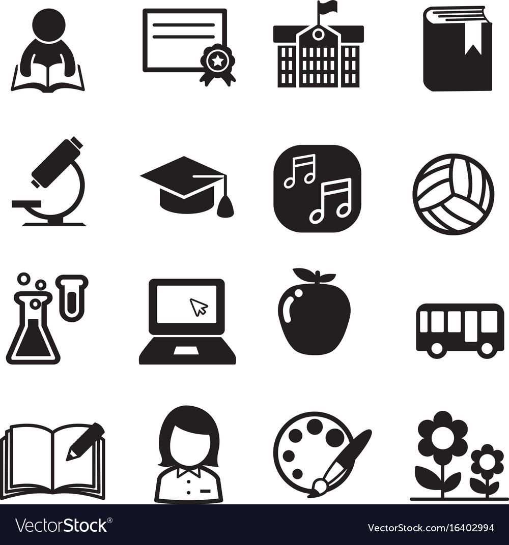 Basic school icon set vector image