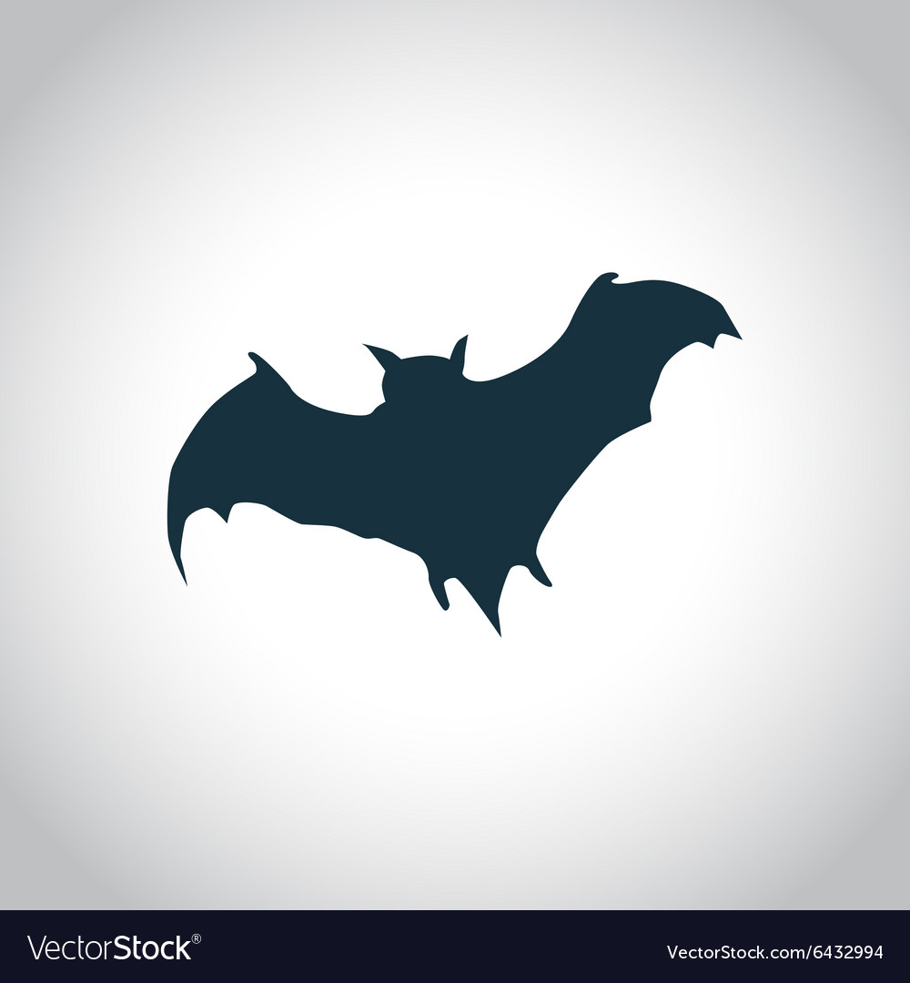 Bat black icon vector image