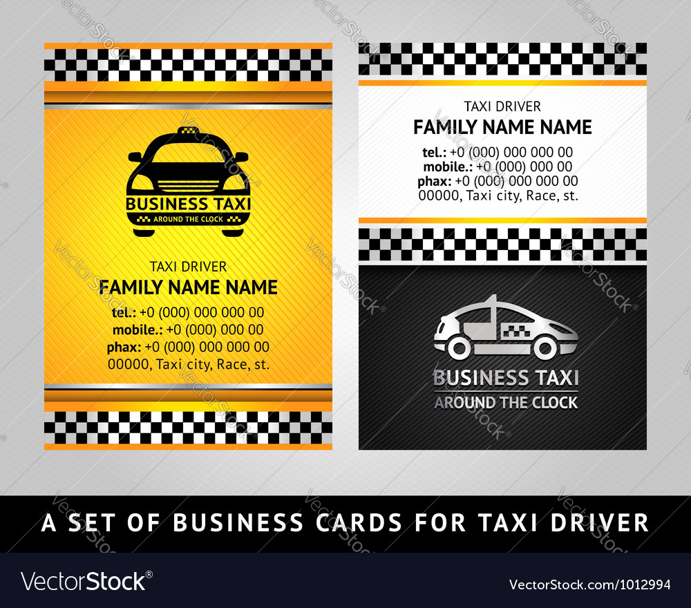 Business card - TAXI CAB Royalty Free Vector Image