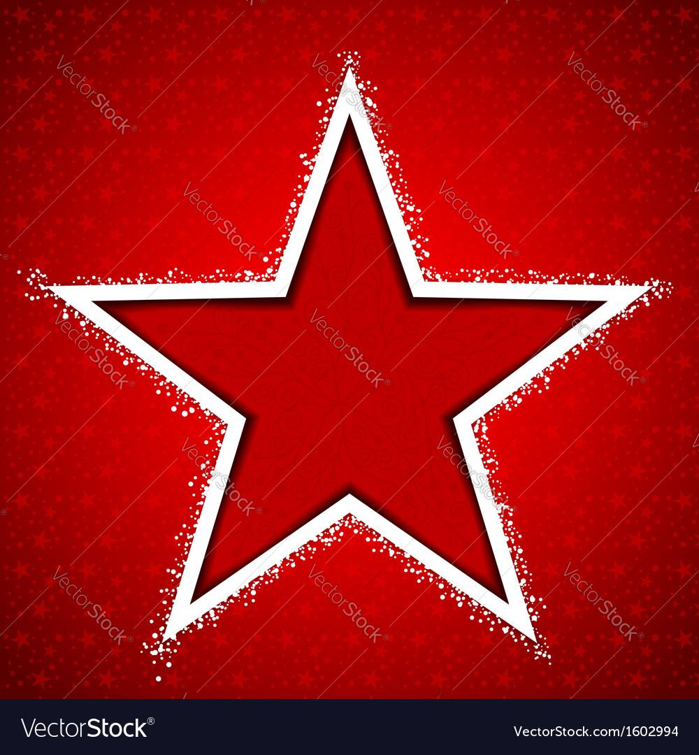 Christmas star snowflake greeting card royalty free vector christmas star snowflake greeting card vector image kristyandbryce Images