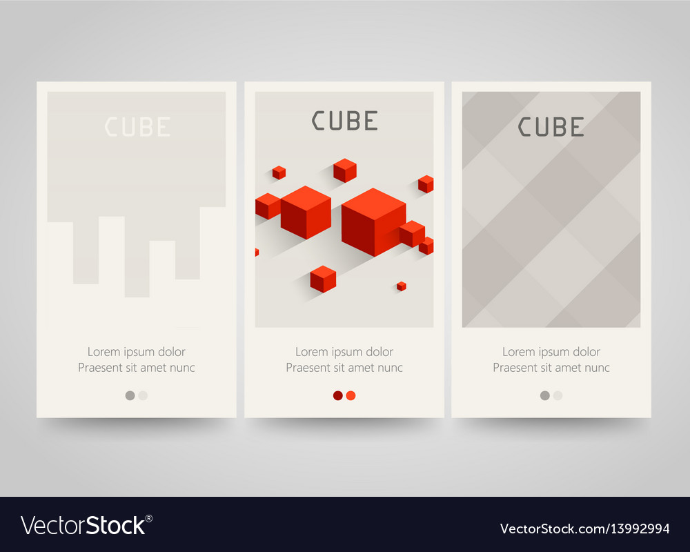 Modern colorful horizontal banners with square vector image