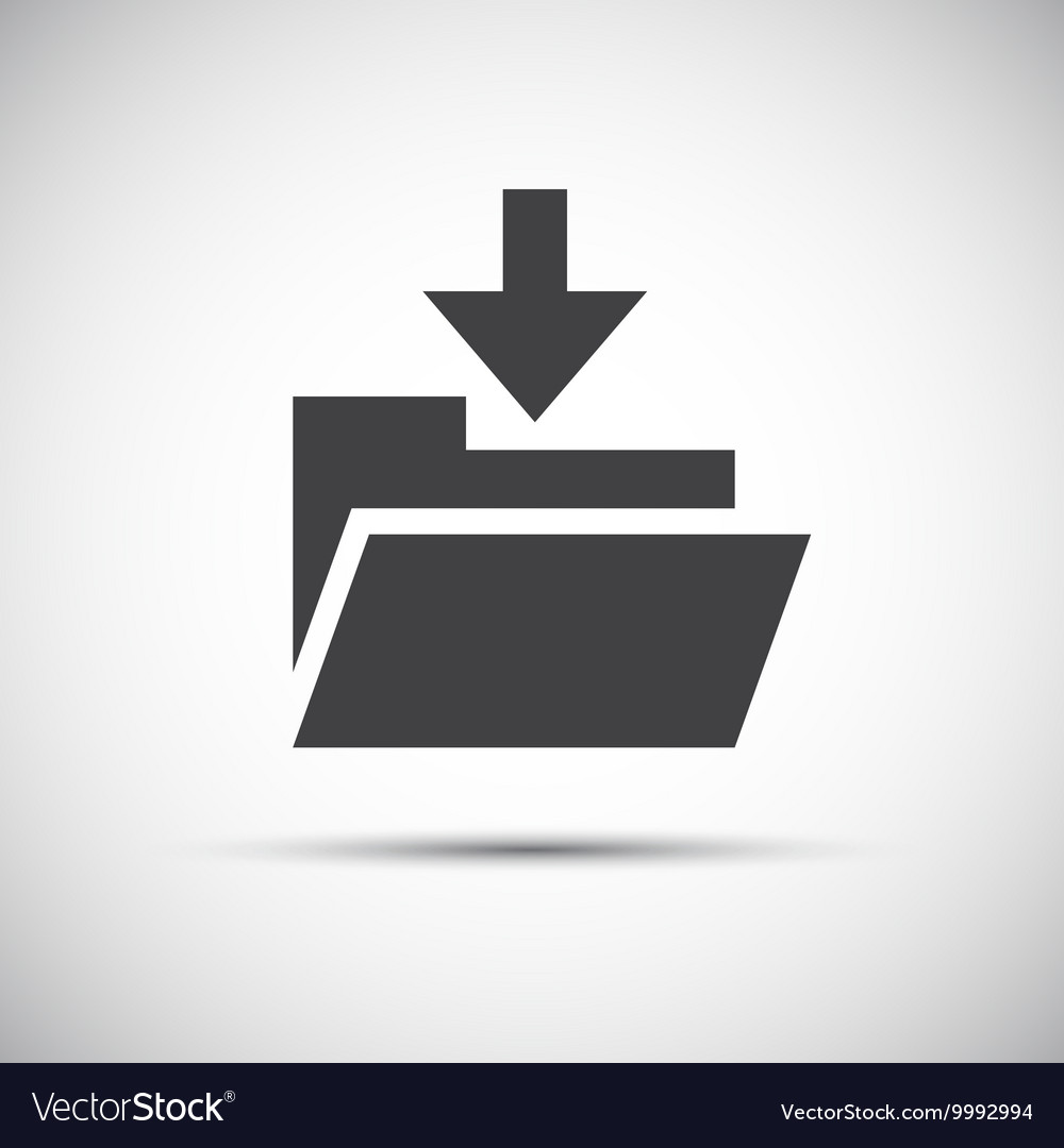 Simple folder with download arrow vector image