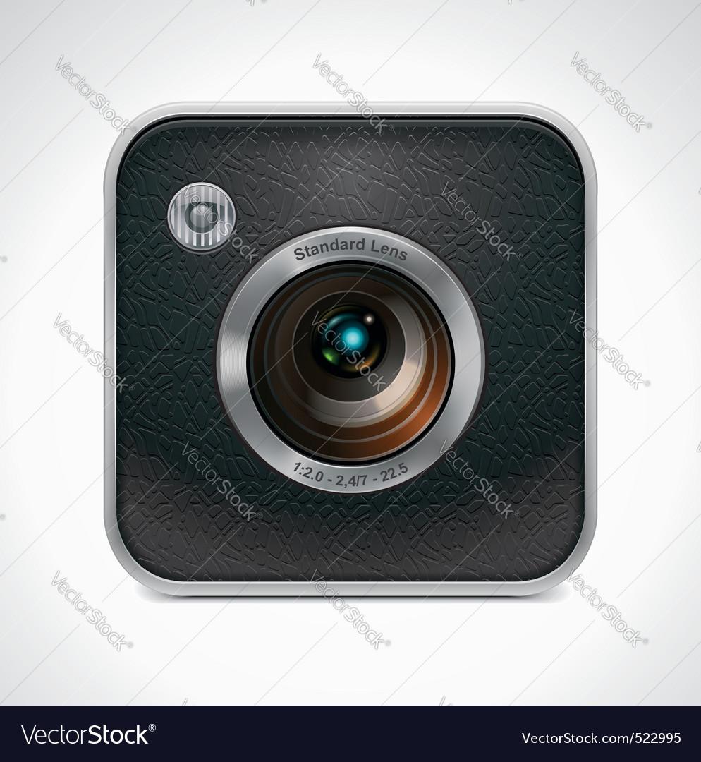 Square retro camera icon Vector Image