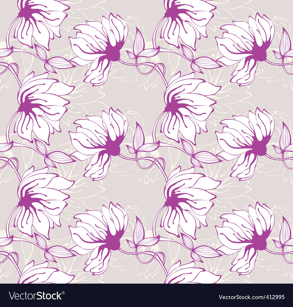 Flower wallpaper pattern vector image