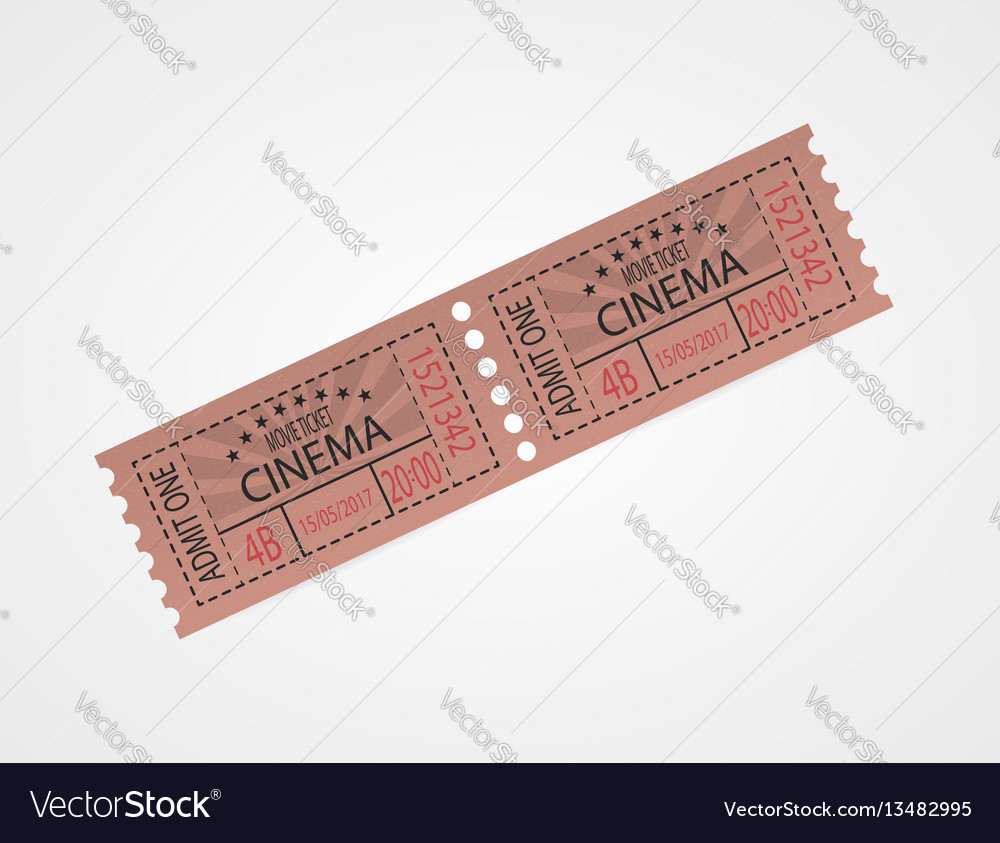 Retro cinema tickets red design vector image
