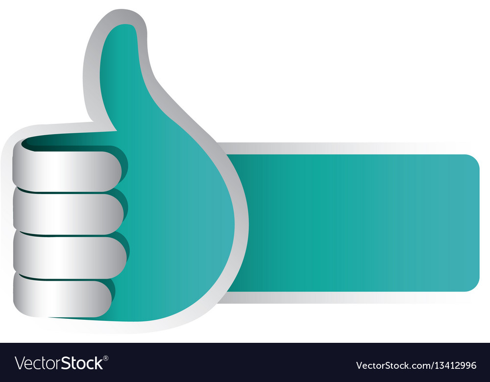 Color 3d arm with hand with signal ok vector image