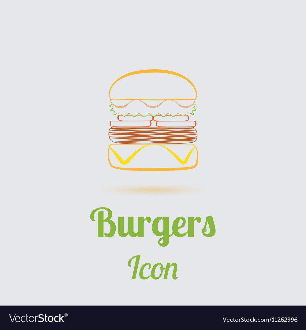Icon of Tasty Burger vector image