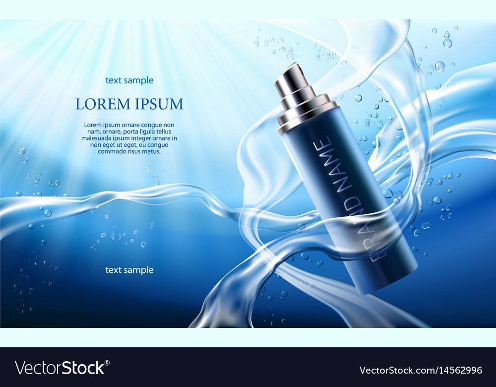 Poster for the promotion of cosmetic moisturizing vector image