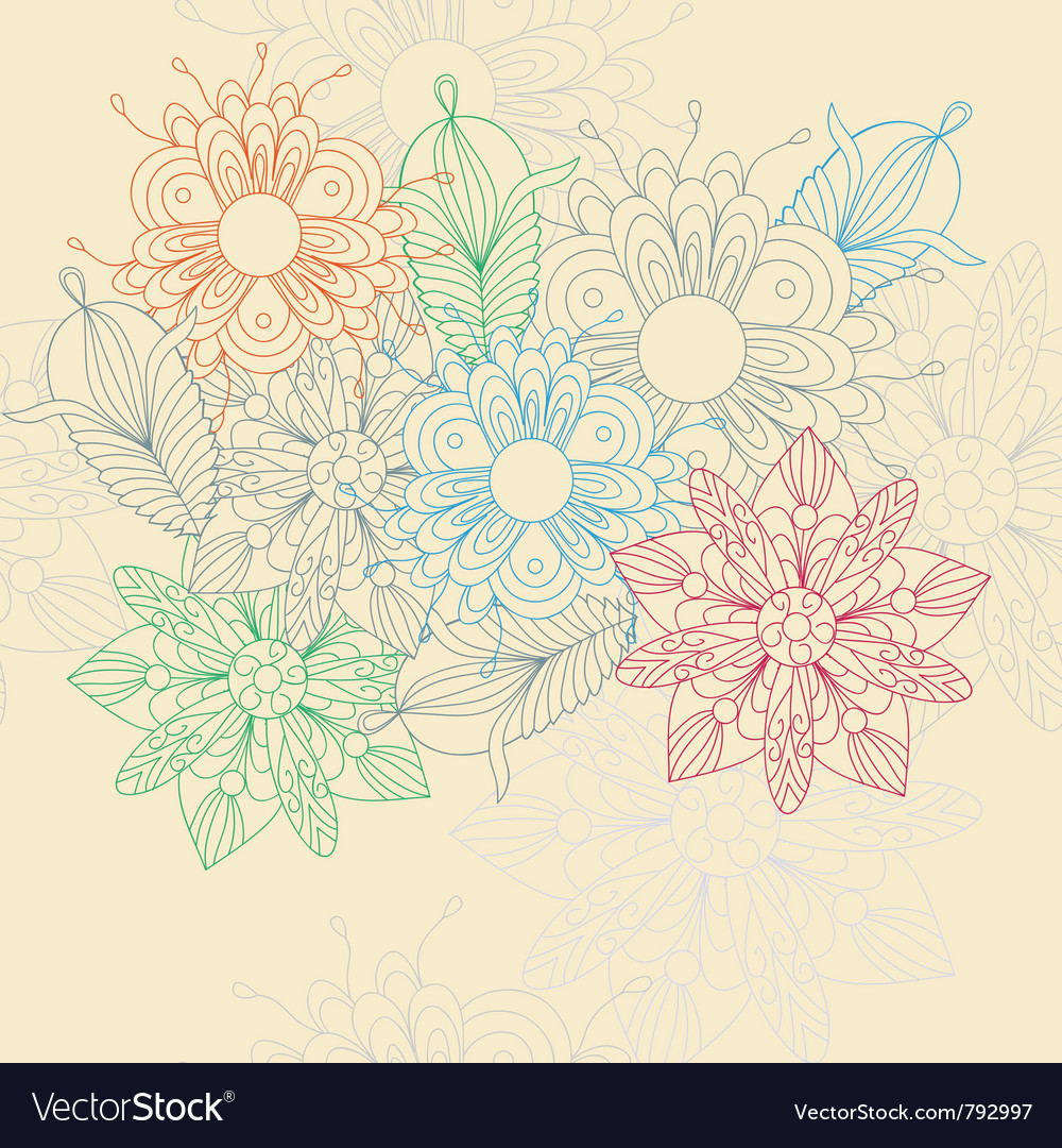 Flower motive vector image