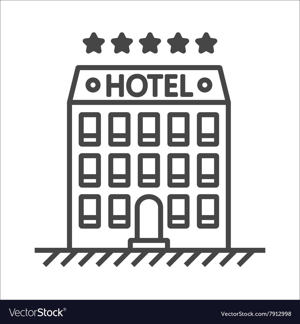 Hotel line icon vector image
