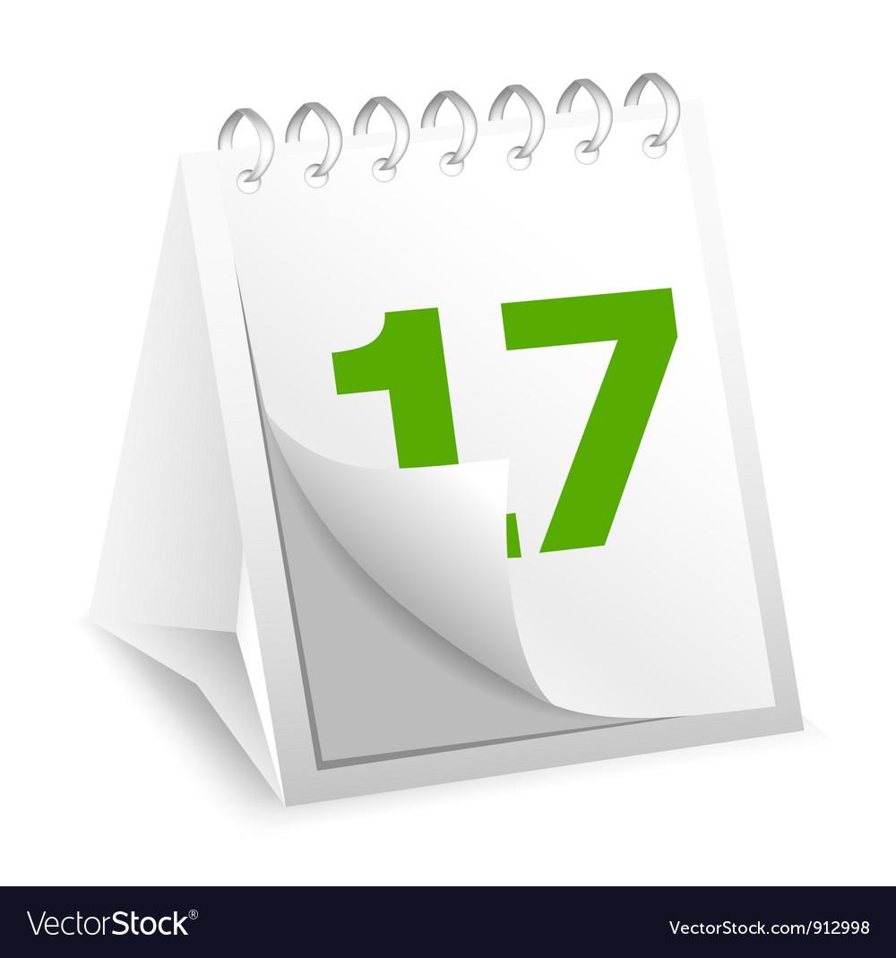 Icon of calendar vector image