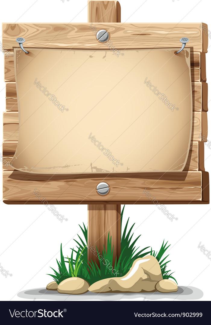Wooden signpost vector image