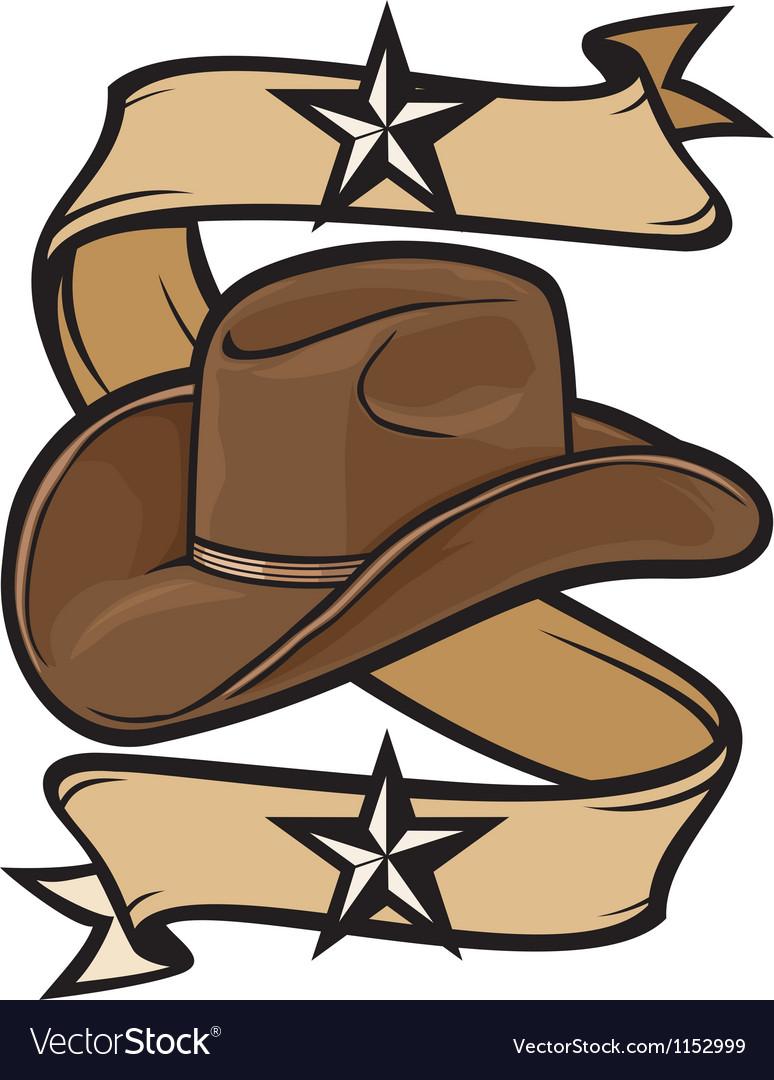 Cowboy hat design vector image