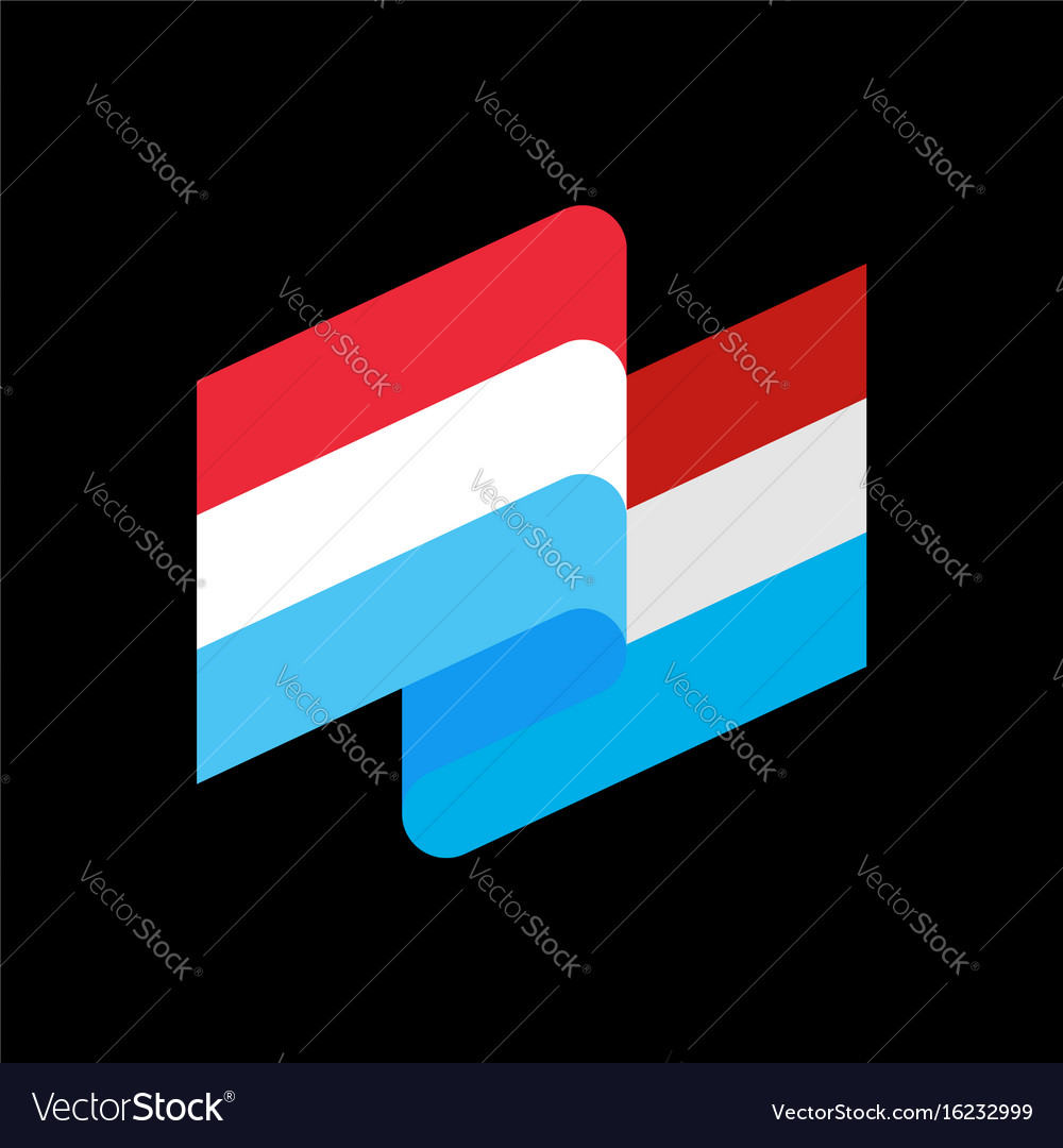 Luxembourg flag ribbon isolated grand duchy tape vector image
