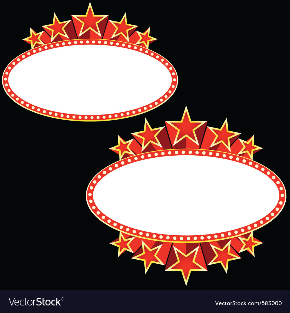 Movie banner vector image