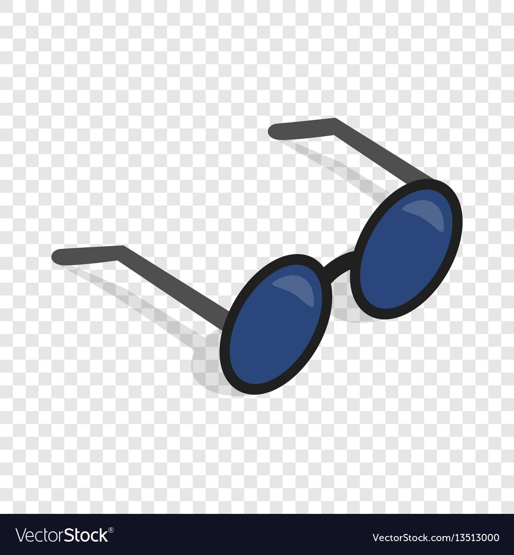 Glasses isometric icon vector image