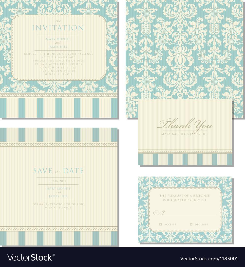The Invitation Set vector image