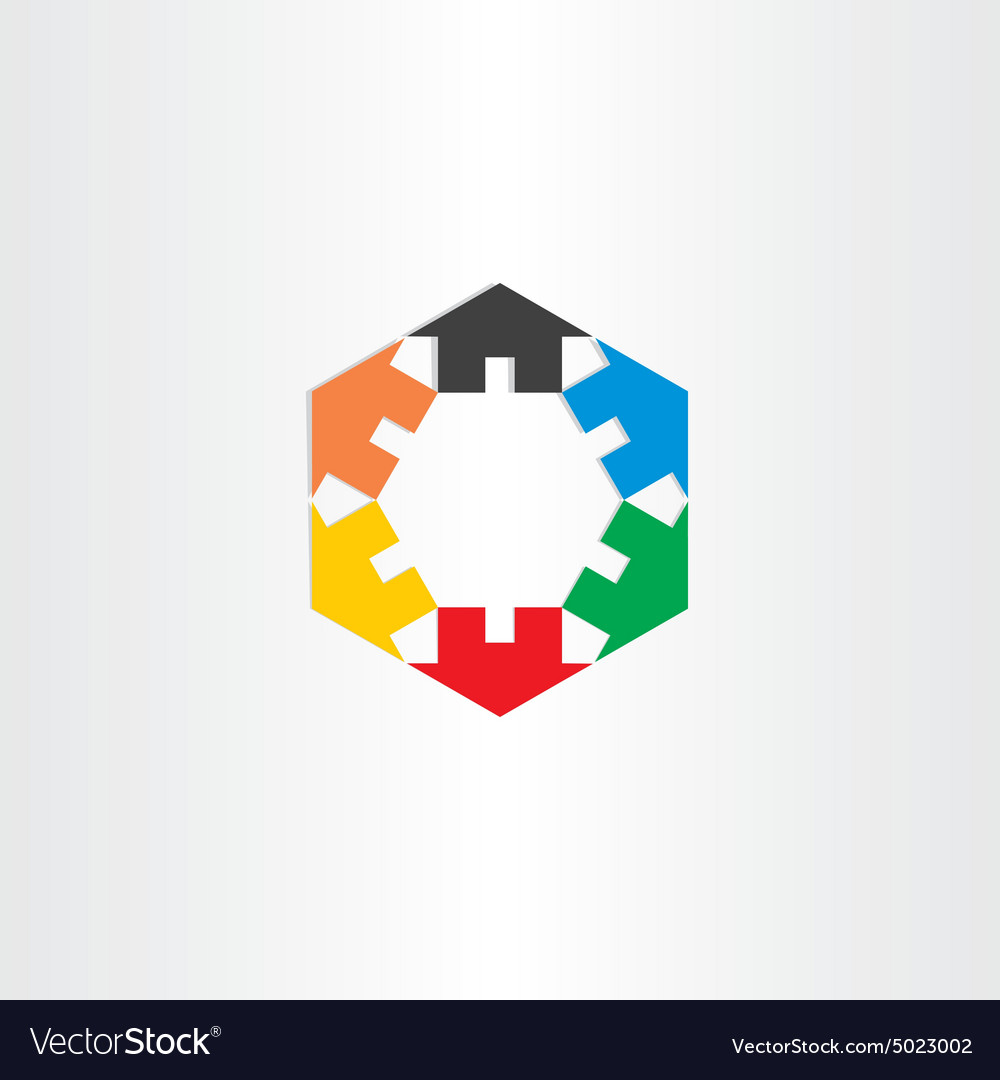 Color houses in circle icon vector image