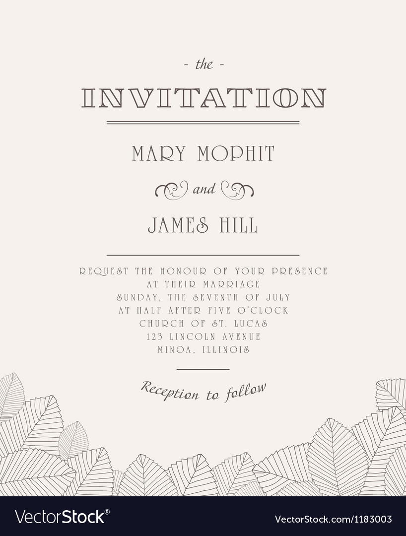 Vintage invitation royalty free vector image vectorstock vintage invitation vector image stopboris Images