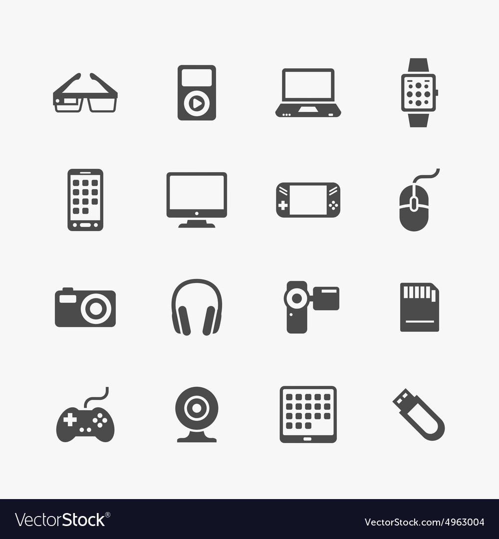 Devices and gadgets icons set vector image