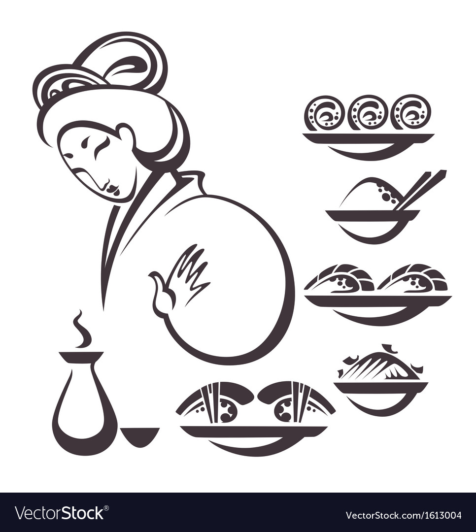 Japan food vector image